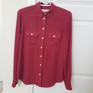 LOFT Button-Up Dress Shirt XS